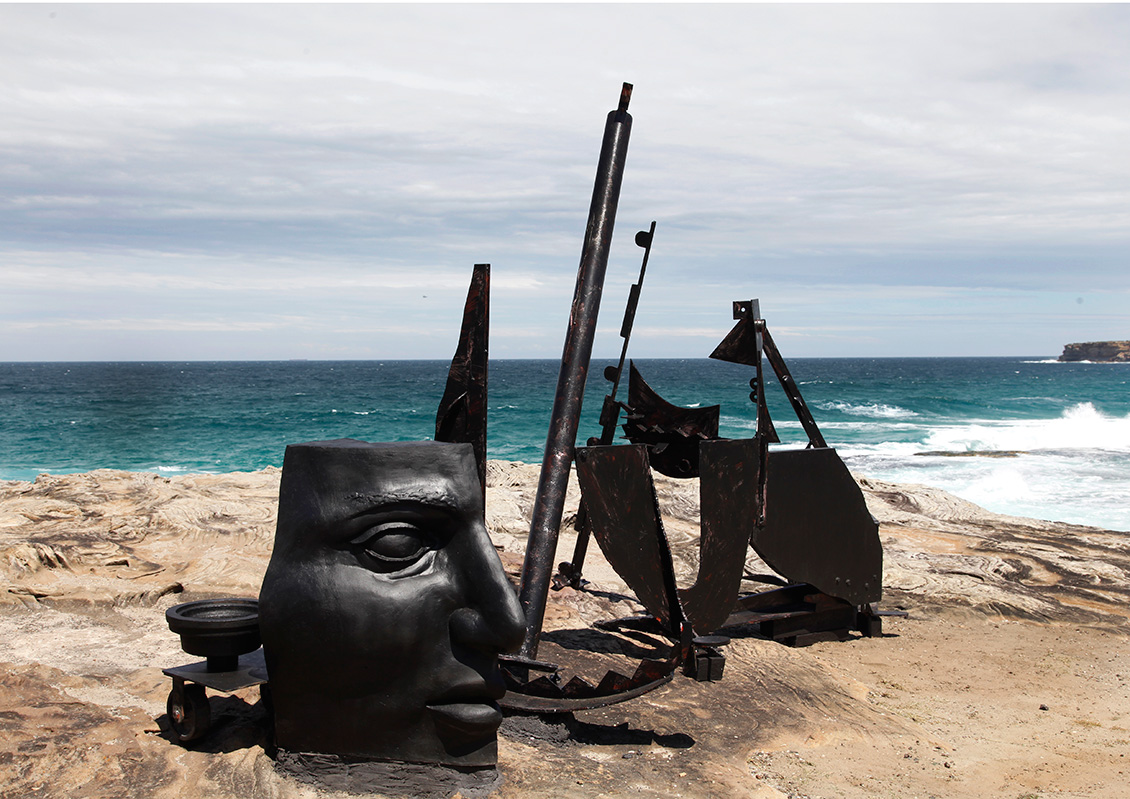 Orest Keywan, above the line, Sculpture by the Sea, Bondi 2011. Photo Samantha Burns.