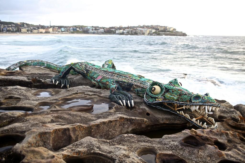 GhostNets Australia, ghost net crocodile (2011)