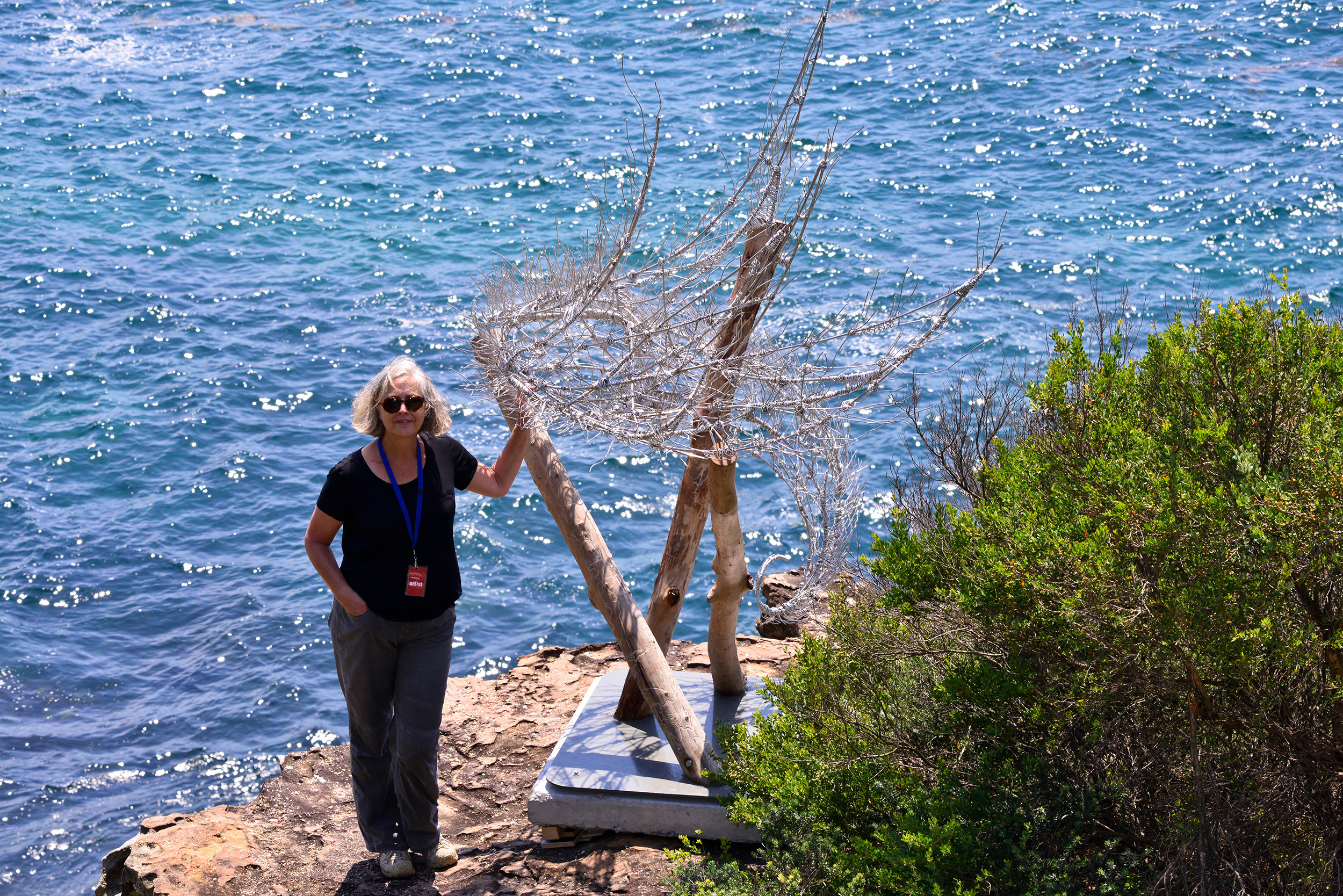 Bronwyn Berman, Windspiral VI, Sculpture by the Sea, Bondi 2015. Photo Clyde Yee