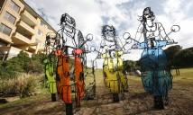 Frank Malerba, scooter girls, Sculpture by the Sea, Bondi 2009. Photo J Williams