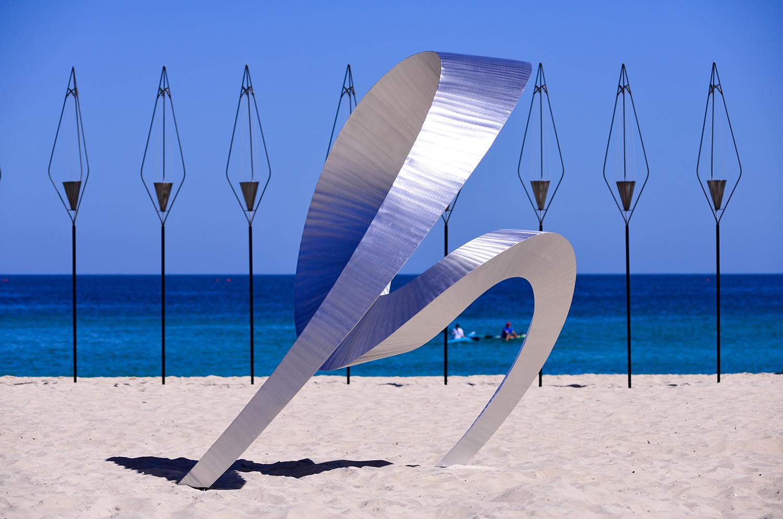 Johannes Pannekoek, signature, Sculpture by the Sea, Cottesloe 2014. Photo Clyde Yee.