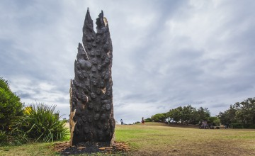 Kim Perrier, ashes to ashes, Sculpture by the Sea, Bondi 2015. Photo Jessica Wyld