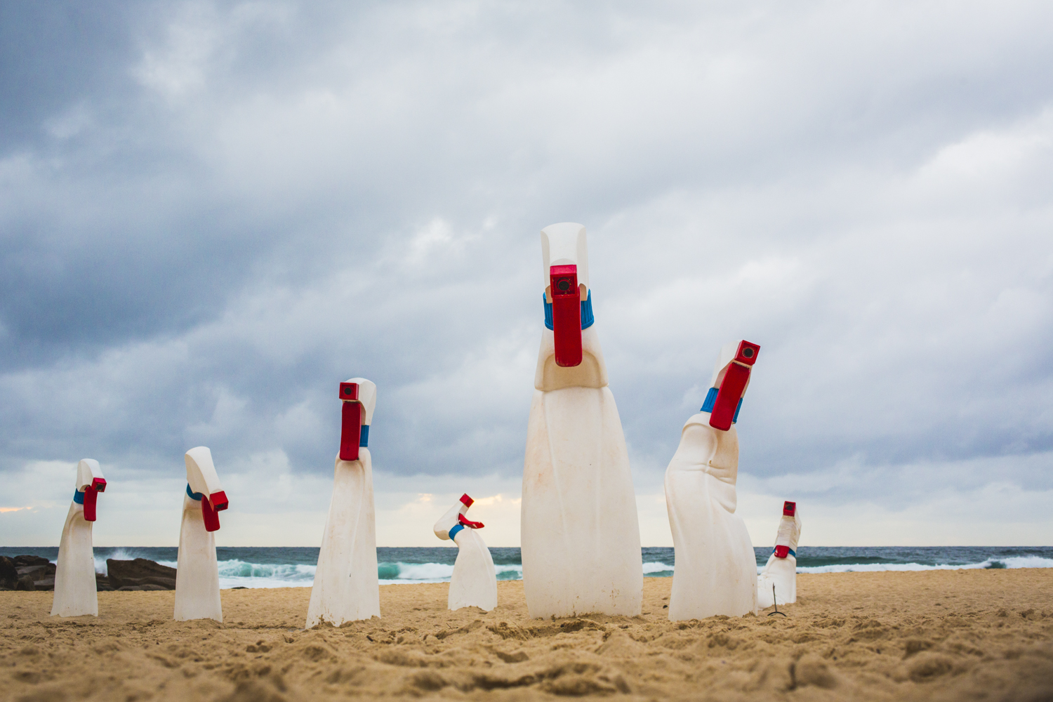 RCM Collective, the bottles, Sculpture by the Sea, Bondi 2015. Photo Jessica Wyld