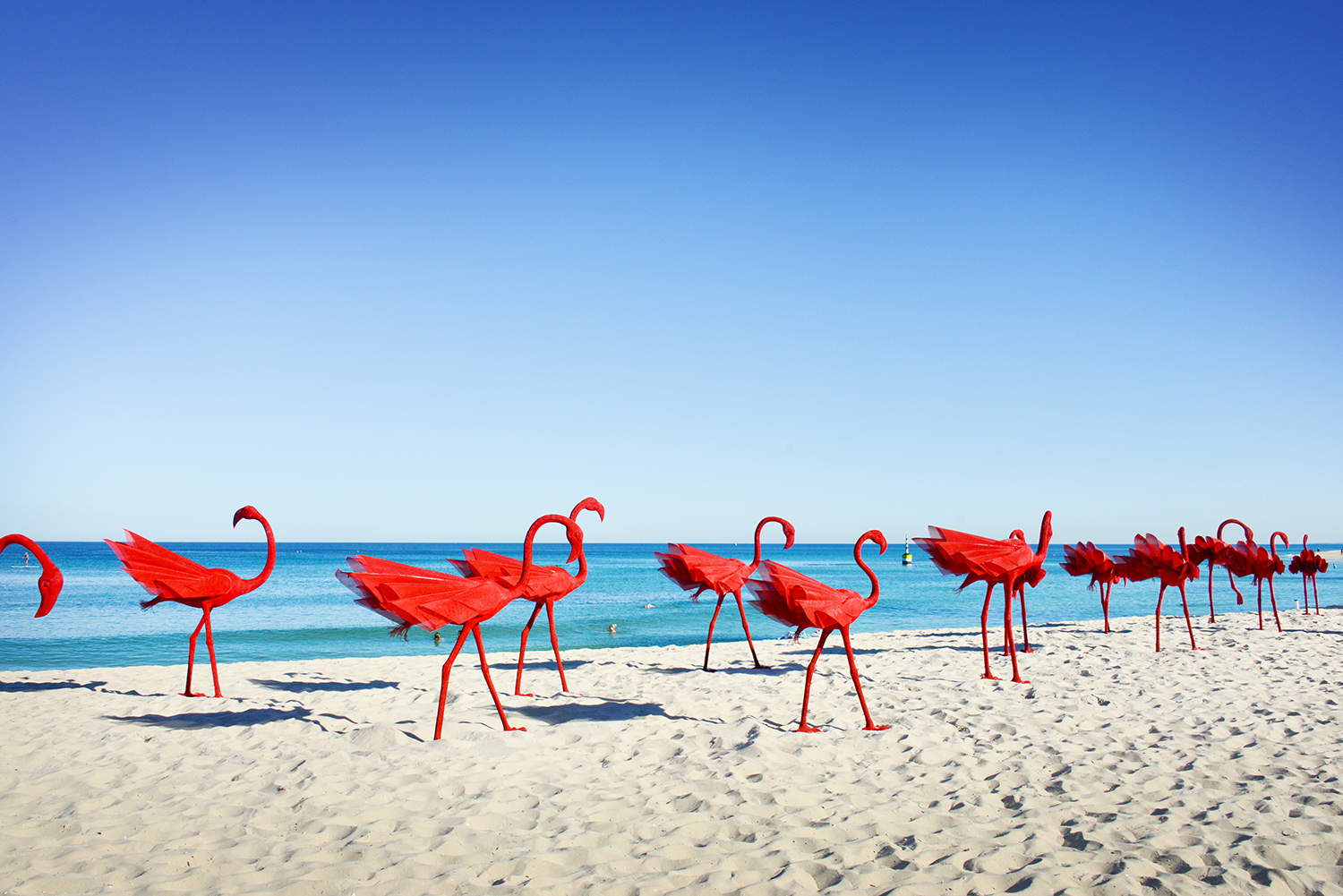 Wendi Zhang, mi no 5, Sculpture by the Sea, Cottesloe 2015. Photo Clyde Yee.