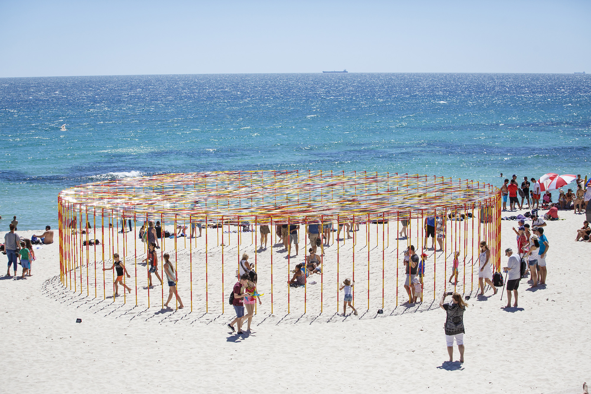 Zilvinas Kempinas, Kakashi, Sculpture by the Sea, Cottesloe 2016. Photo Jessica Wyld
