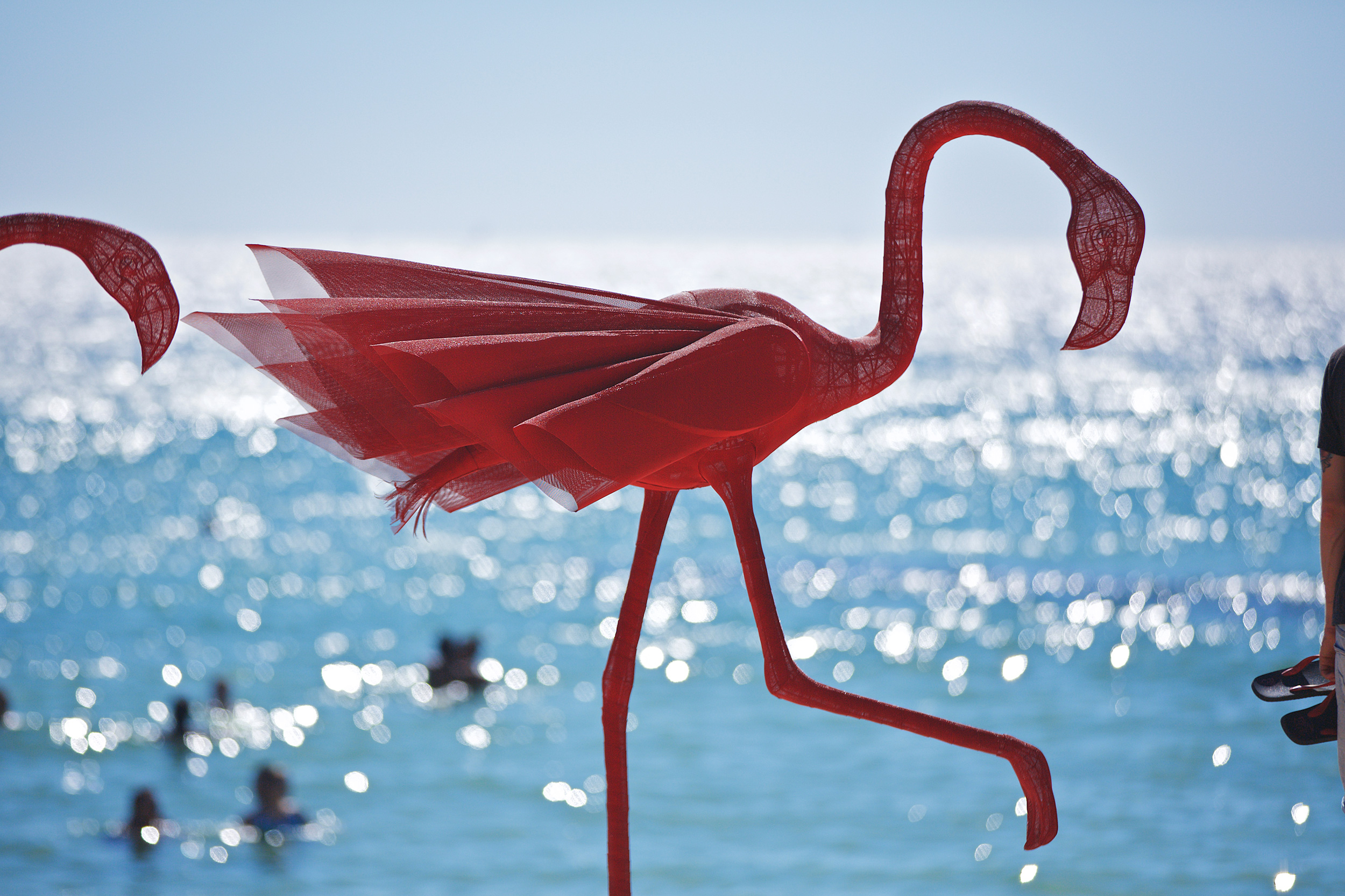 Wendi Zhang, mi no 5, Sculpture by the Sea, Cottesloe 2015. Photo Jarrad Seng.