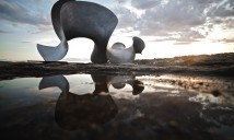 Benjamin Storch, undulation, Sculpture by the Sea, Bondi 2015. Photo by Jarrad Seng