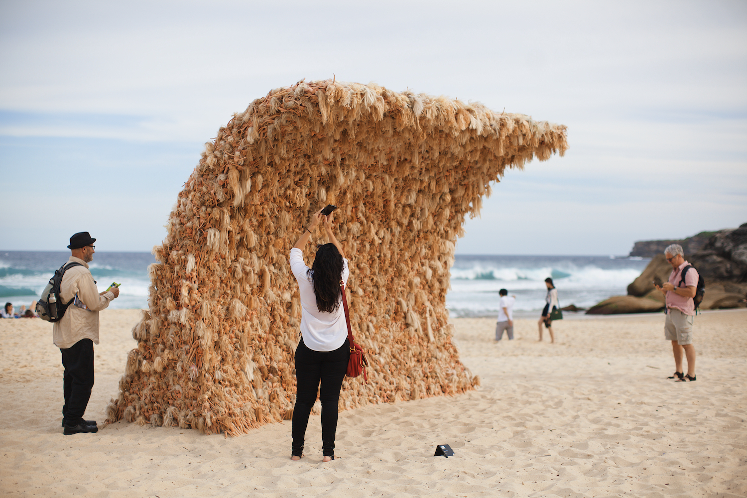 Annette Thas, wave 2, Sculpture by the Sea, Bondi 2015. Photo Jarrad Seng
