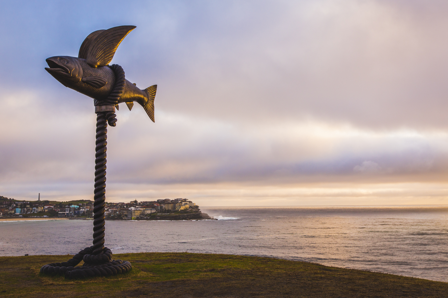 Gillie & Marc Schattner, flying fish, Sculpture by the Sea, Bondi 2015. Photo Jessica Wyld