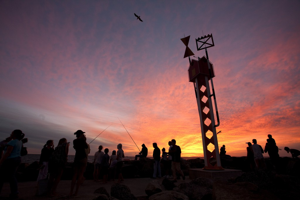 Tony Jones OAM, lighthouse, Sculpture by the Sea, Cottesloe 2012. Photo Viv Dalles