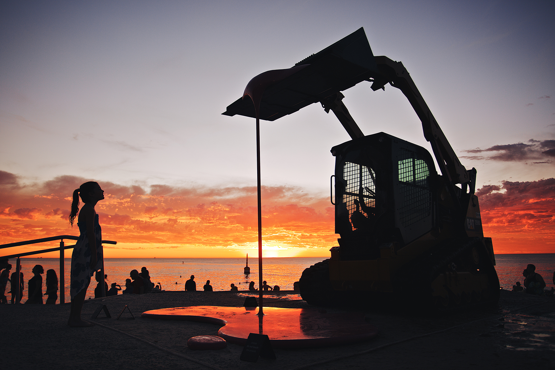Markus Hofer (Austria), Der Traktor, Sculpture by the Sea, Cottesloe 2016. Photo Jarrad Seng