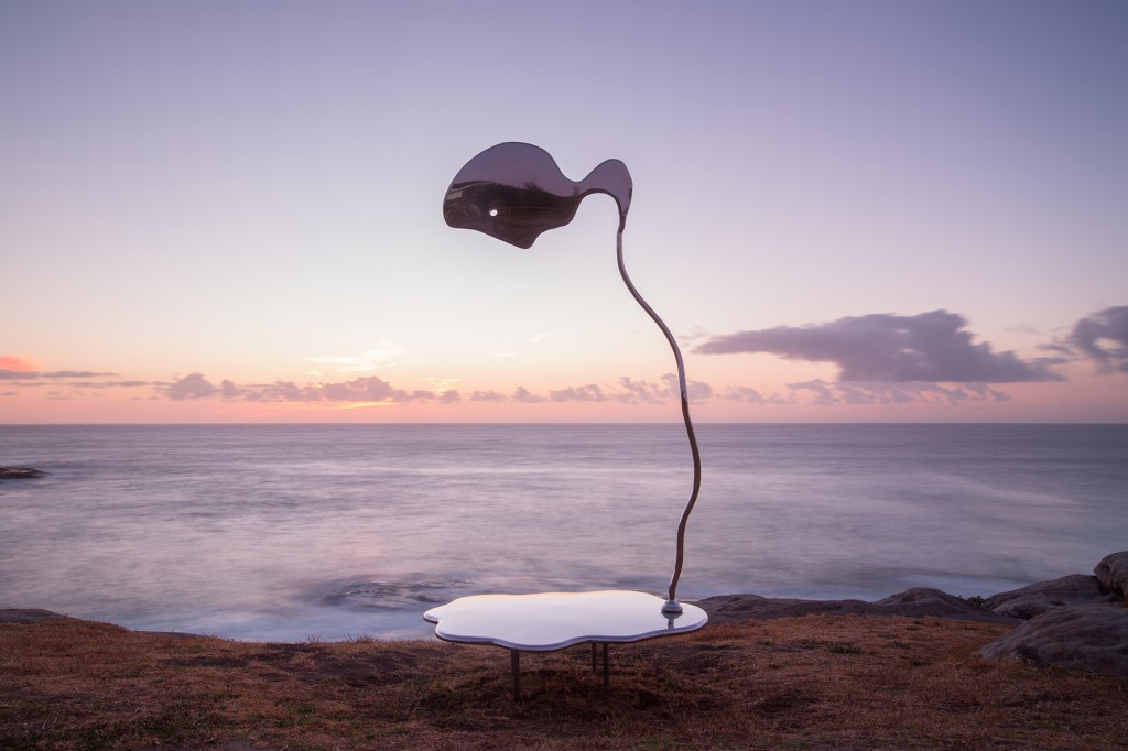 Hugh McLachlan, Slow Flow Towards Narcissism, Sculpture by the Sea, Bondi 2017. Photo Gareth Carr.
