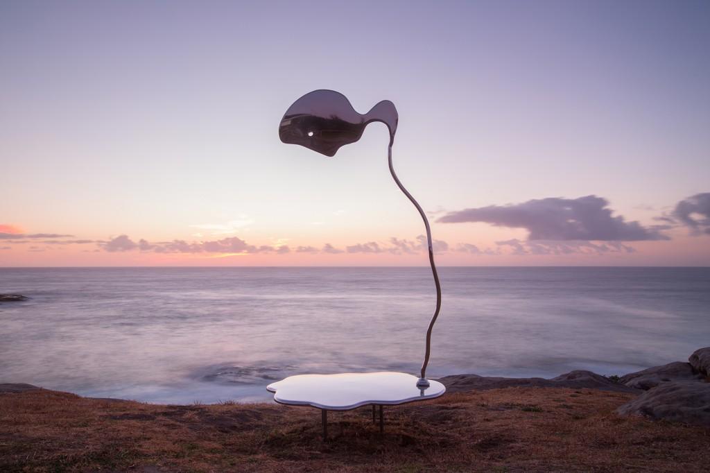 Hugh McLachlan, Slow Flow Towards Narcissism, Sculpture by the Sea, Bondi 2017. Photo Gareth Carr.