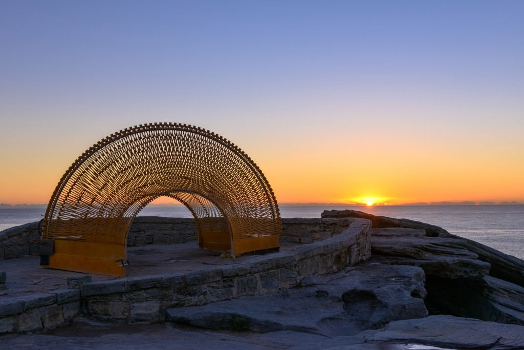 Nicole Larkin, Dynamics in Impermanence, Sculpture by the Sea, Bondi 2016. Photo Clyde Yee