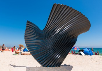 Benjamin Storch, Yielding, Sculpture by the Sea, Cottesloe 2017. Photo - Richard Watson