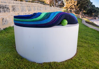 Mikaela Castledine, Princess and the Pea, Sculpture by the Sea, Cottesloe 2017. Photo - Richard Watson