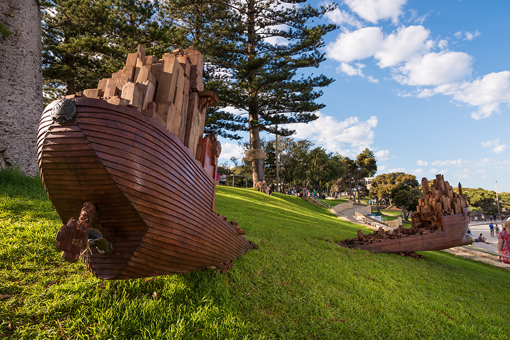 Oliver Stretton-Pow, Infrastructure 5, Sculpture by the Sea, Cottesloe 2017. Photo - Richard Watson2