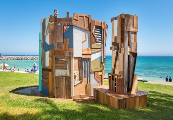 Stuart and Hamish McMillan, Search, Sculpture by the Sea, Cottesloe 2017. Photo - Richard Watson2