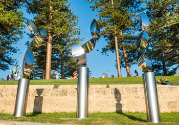 Tsutomu Matsunaga, Beginning of Landscape, Sculpture by the Sea, Cottesloe 2017. Photo - Richard Watson