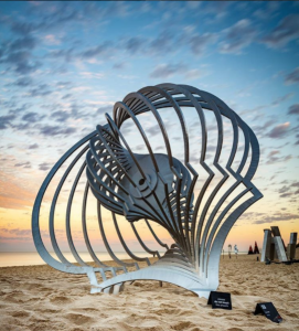 Anne Neil, Murmur, Sculpture by the Sea, Cottesloe 2017. Photo @albert_chetcuti_fotografie