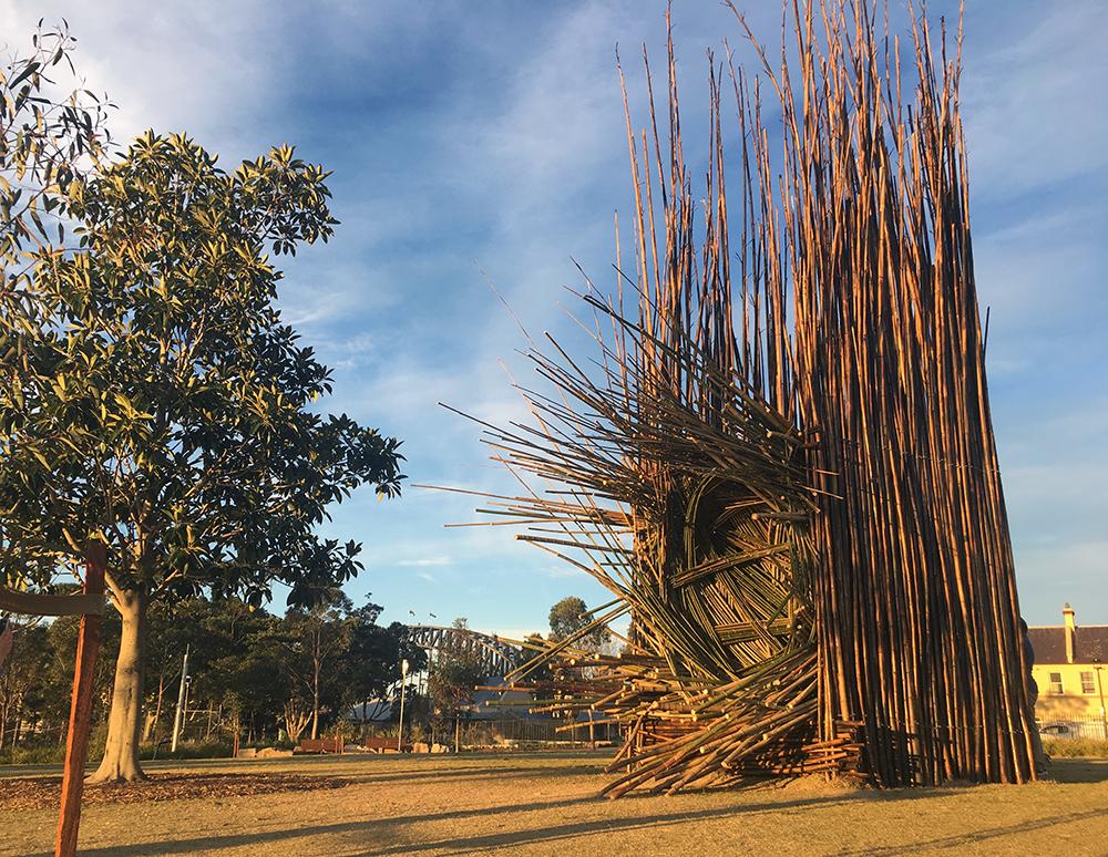 Cave Urban, Bower, Sculpture at Barangaroo 2017. Photo Di Caskey