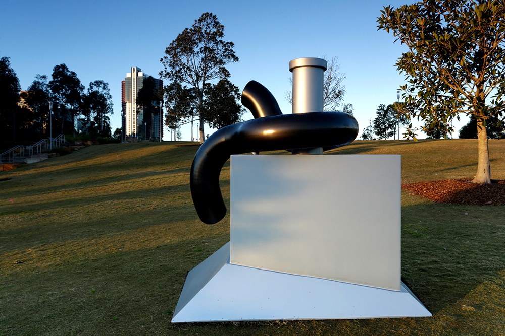 Michael Le Grand, Bollard II, Sculpture at Barangaroo 2017. Photo Jamie Williams.