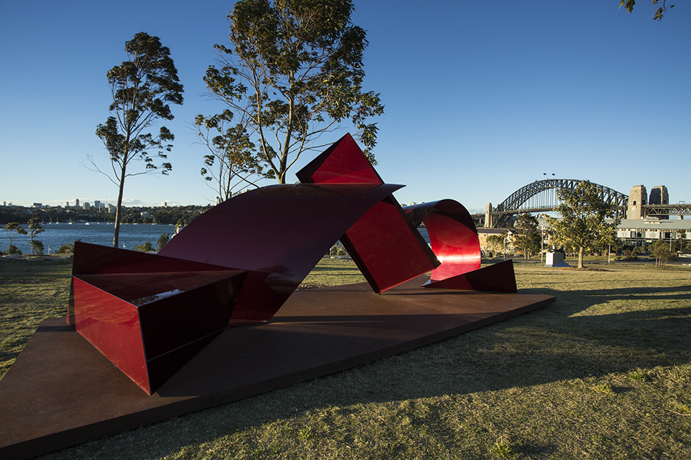 Michael Le Grand, Buttress, Sculpture at Barangaroo 2017. Photo Jamie Williams.