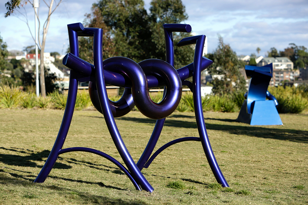 Michael Le Grand, Goshu (l), Sculpture at Barangaroo. Photo Jamie Williams
