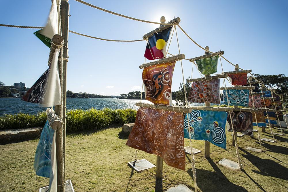 Tereasa Trevor, 11 Ships, Sculpture at Barangaroo 2017. Photo Jamie Williams.