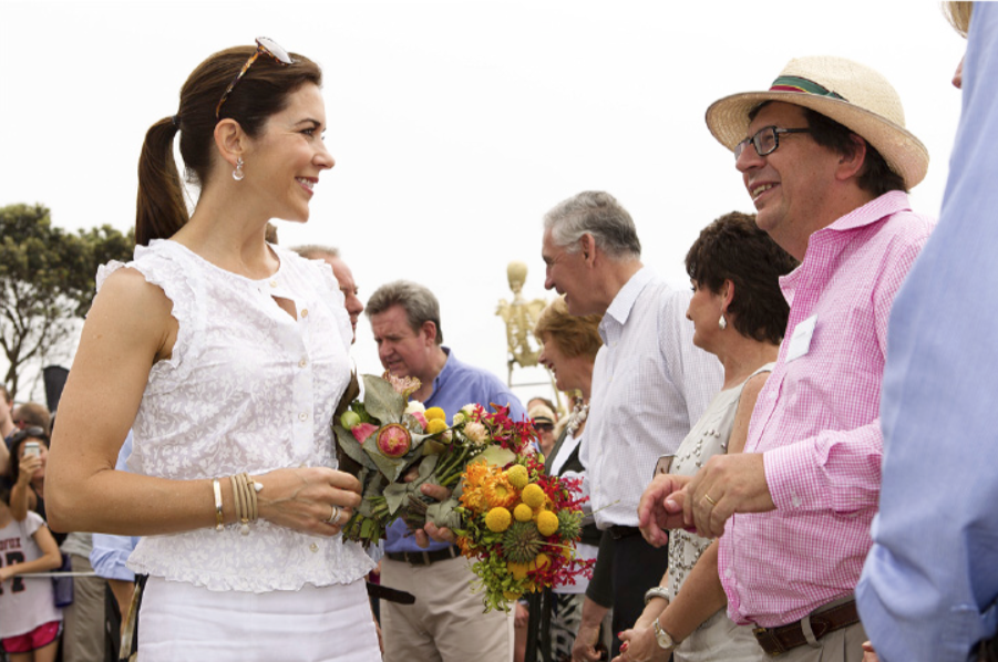 Mary, Crown Princess of Denmark with Andrew Bell