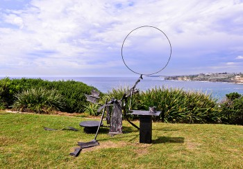 Orest Keywan, And the ship sails on (with a pologies to f.f.), Sculpture by the Sea, Bondi 2015. Photo Clyde Yee