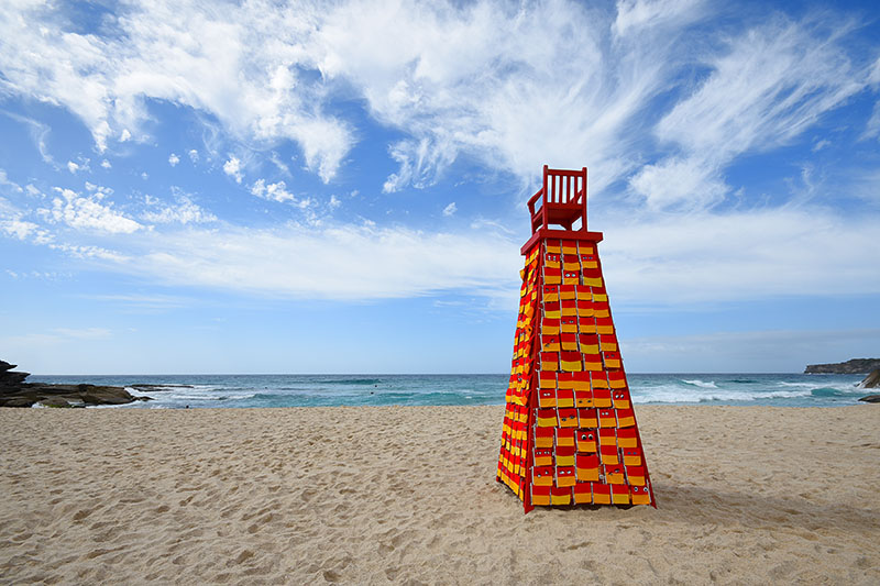 Linton Meagher, Look out for Me, Sculpture by the Sea, Bondi 2017. Photo Andrei Sky